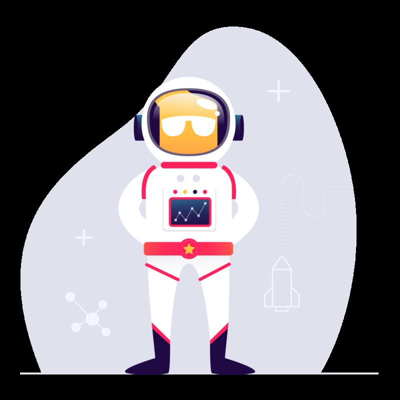 level up astronaute