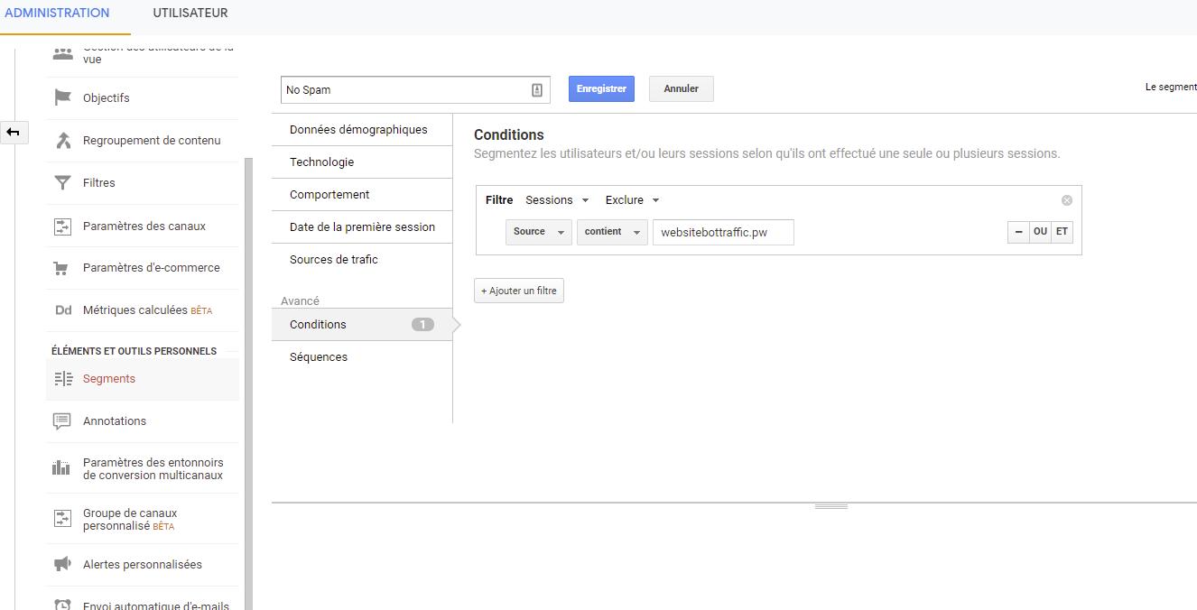 segment google analytics
